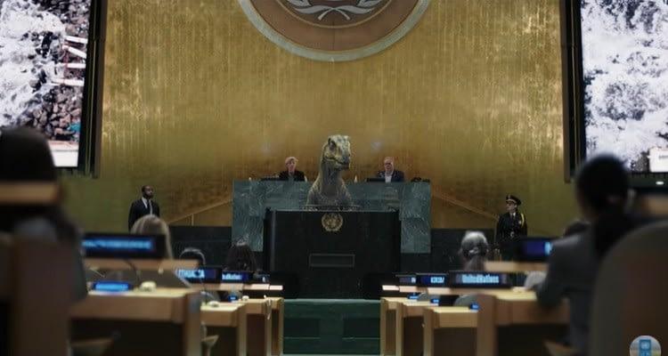 """BM, iklim felaketine karşı dinozorla """"Yok Oluşu Seçme"""" diyor!"""
