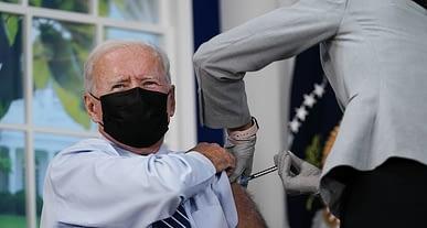 ABD Başkanı Joe Biden canlı yayında 3. doz covid-19 aşısı oldu!